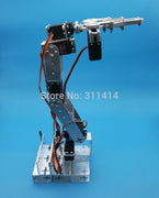 1set 6 DOF Robot Arm + Mechanical Claw + Large Metal base For Educational Project DIY Arduino Robotic Parts