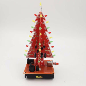 DIY Electronic Christmas Tree Kit Soldering Practice Maker Space LED Water Light