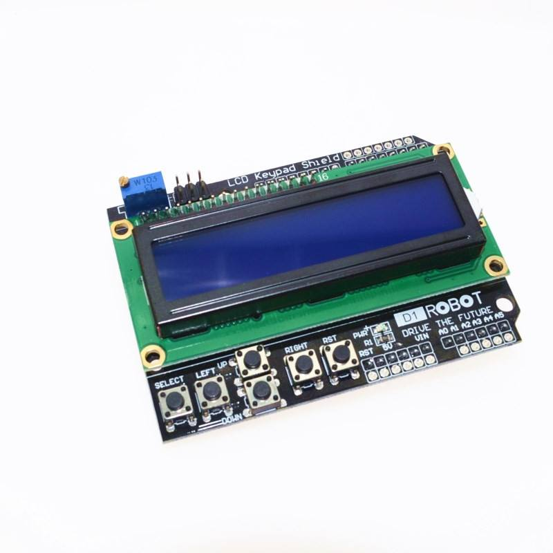 1PCS LCD Keypad Shield LCD1602 LCD 1602 Module Display For Arduino ATMEGA328 ATMEGA2560 raspberry pi UNO blue screen