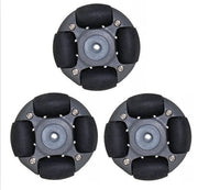 A set of 48mm L E G O plastic omnidirectional wheel ( Omni wheel) 14113