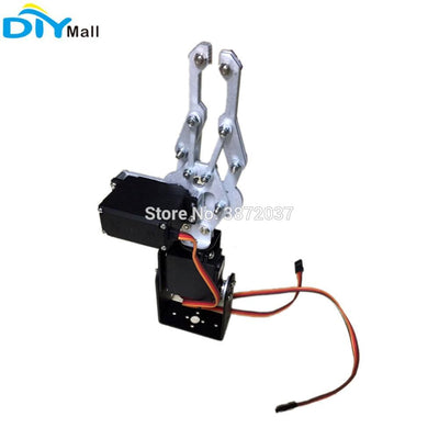 2DOF Aluminium Mechanical Robotic Arm Clamp Claw Mount Bracket Holder MG996R Digital Servo Metal Gear for Arduino