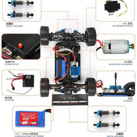 Electric Rc Cars 4WD Shaft Drive Trucks High Speed Radio Control Wl A959 Rc Monster truck, Super Power Ready to Run