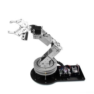 Industrial 6 DOF Robot Arm Arduino Manipulator Mechanical Alloy Rotatable Stand Mount Silver Kit RC Parts Robot Toy for Children