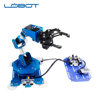 LOBOT Industrial 6 DOF Robot Arduino Scratch Arm Serial Bus Micro Servo Infrared Remote Control RC Parts Robot Toys for Children