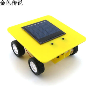 Self assembly Mini Solar Powered DIY Car Kit 10*10*5cm 4 color 4WD Smart Robot Car Tank Chassis RC Toy