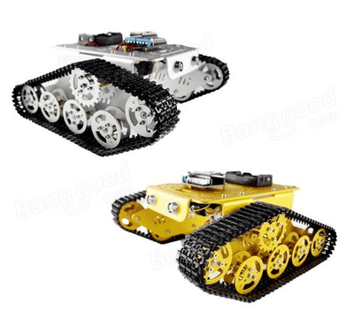 DIY T300 NodeMCU Aluminum Alloy Metal Wall-E Tank Track Caterpillar Chassis Smart Robot Kit
