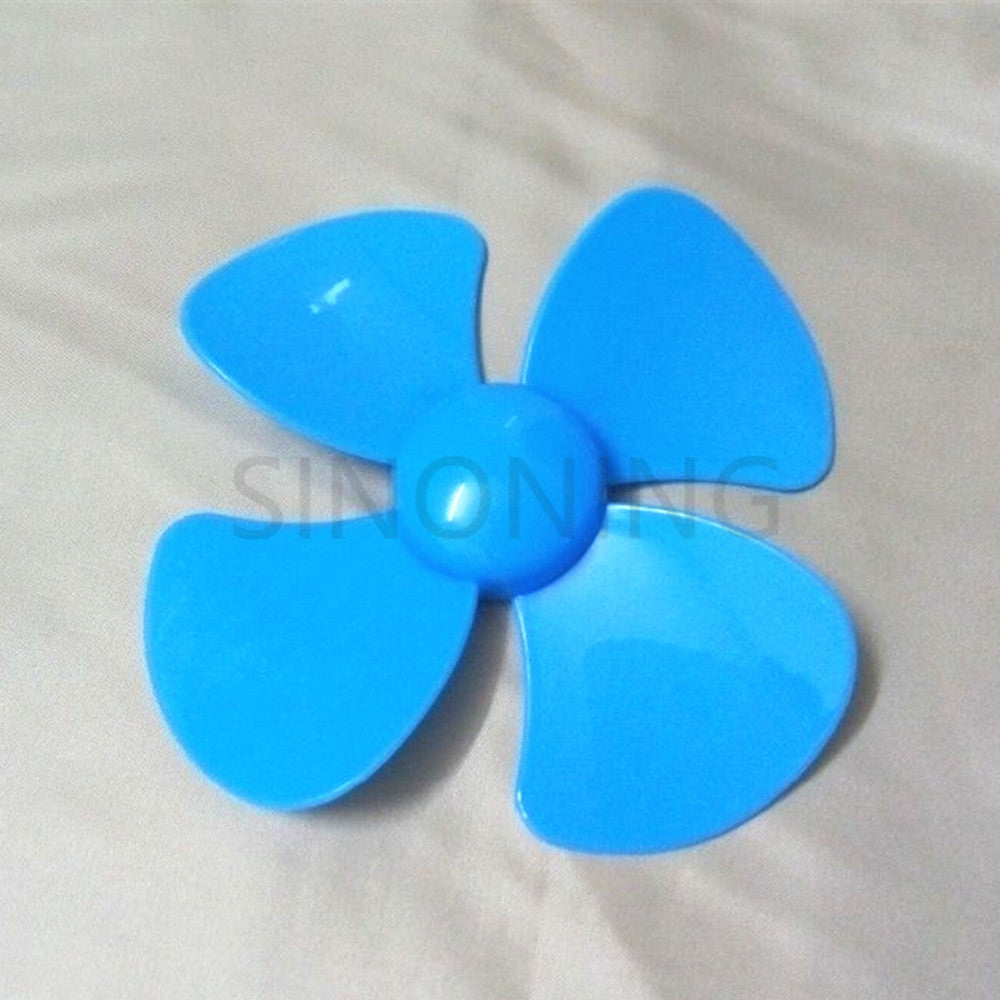 1pcs 100mm diameter plastic blade four leaf pulp fan leaves small production DIY Blue