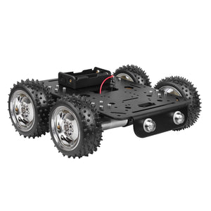4WD Smart Robot Car Kit w/ 4*9V Motor for Tank Chassis Arduino Raspberry Pi DIY