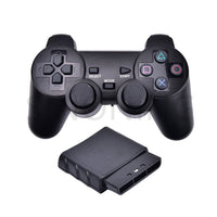 New Black Wireless Shock Game Controller for Sony PS2