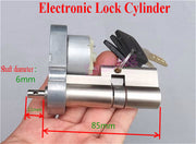 Full Metal Gear Motor Electronic Lock Core Fr Door Key Lock Cylinder Rebuild DIY
