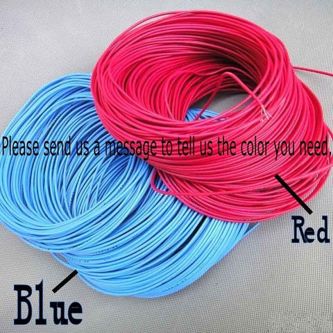 10meter Multicolor 2mm copper wire cable thin wire Copper for model
