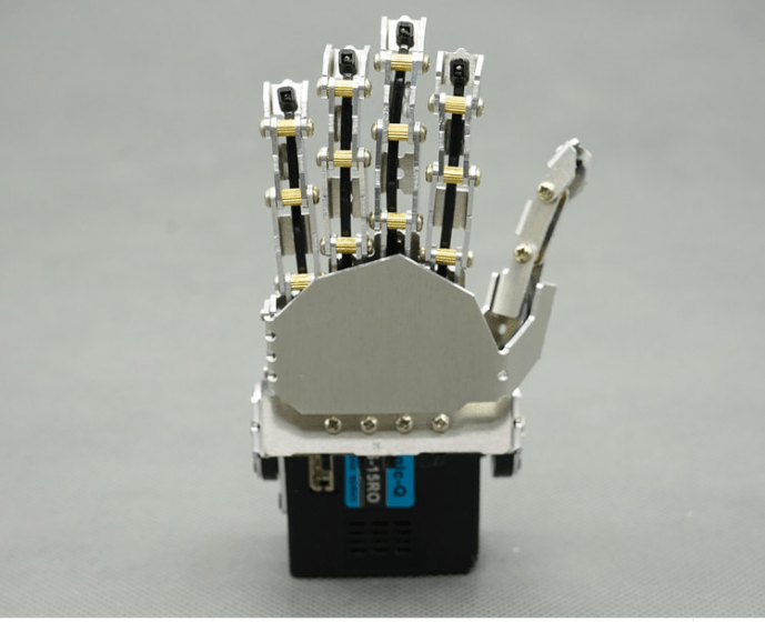 robot mechanical fingers finger movable metal hand / finger biped robot / holder /