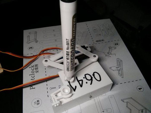 Arduino Plotclock robot kit drawing program acrylic arm
