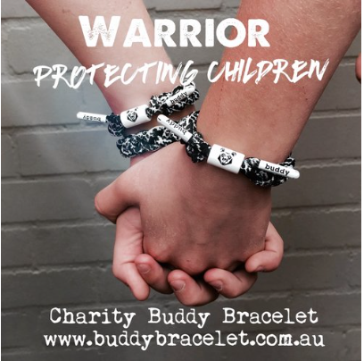 #Charity Buddy Bracelet  🐻🍀🐻 Warrior mini