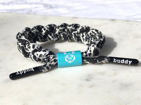#Buddy Bracelet mini  ✨B&W Warrior Aqua✨