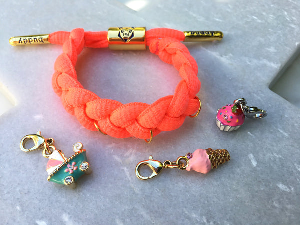 Buddy Bracelet for charms  🌟🌟🌟 FLURO CORAL
