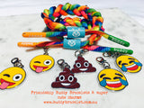 Buddy Bracelet for charms  😜💩😂 Aqua Rainbow double trouble charms
