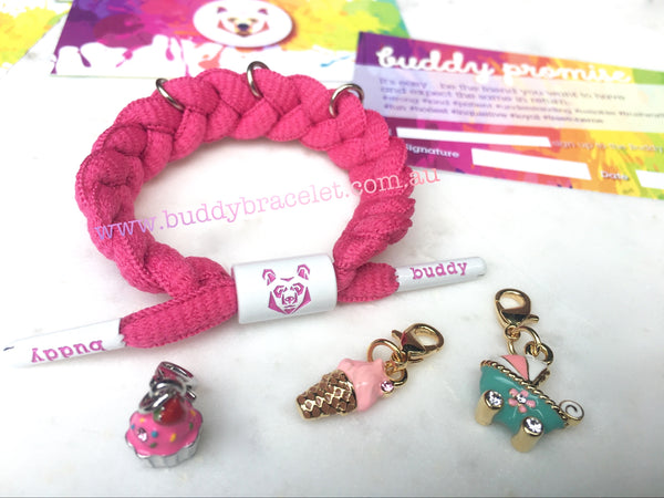 Buddy Bracelet for charms 🌺🌺🌺 charm combo pink power
