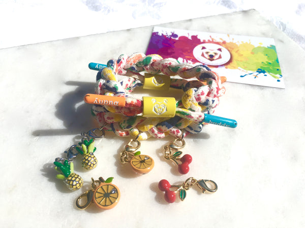 Buddy Bracelet for charms 🍒🍍 🍊Tutti Frutti combo mini