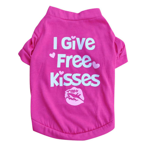 T-Shirt - I Give Free Kisses - 4paws