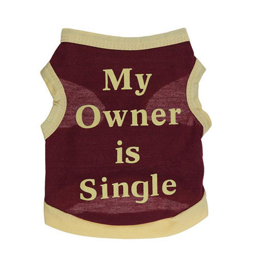 Vest - My Owner is Single