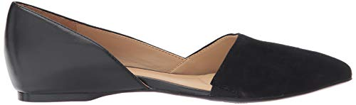 Naturalizer womens Samantha Pointed Toe Flat, Black Leather and Suede