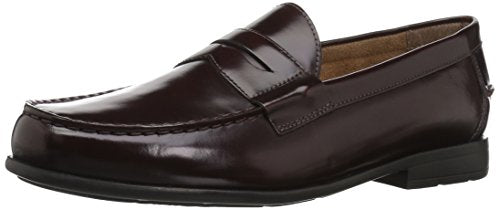 Nunn Bush Men Drexel Penny Loafer with KORE Comfort Technology, Burgundy