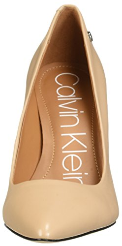 Calvin Klein Women's Brady Pump, Desert Sand Leather, 8.5