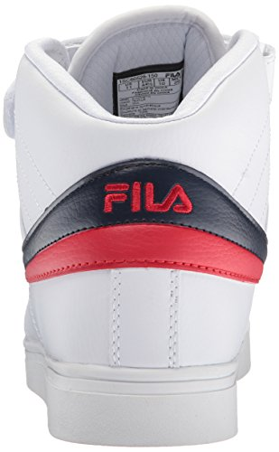 Fila Men's Vulc 13 MID Plus 2 Walking Shoe, White Navy red-150,