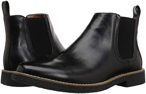 Deer Stags Men's Rockland Memory Foam Dress Casual Comfort Chelsea Boot, Black/Black