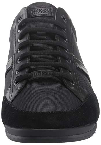 Hugo Boss BOSS Green Men's Saturn Profile Low Top Sneaker, Black,