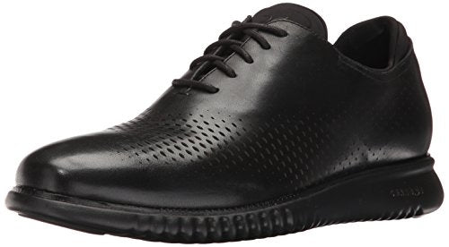 Cole Haan mens 2.0 Zerogrand Laser Wing Oxford, Black Leather/Black