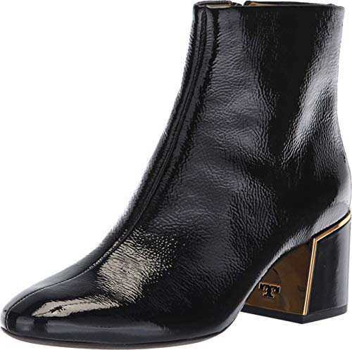 Tory Burch Juliana High Shine Leather Ankle Bootie, Perfect Black