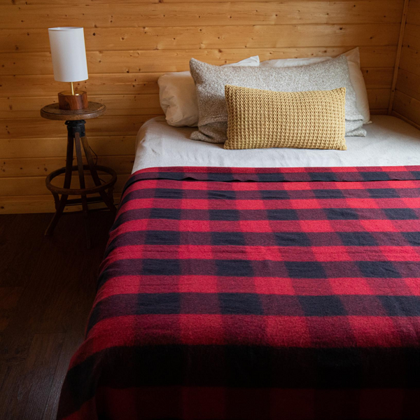 Arcturus Backwoods Wool Blanket - Red Buffalo Plaid | 4.5 lbs