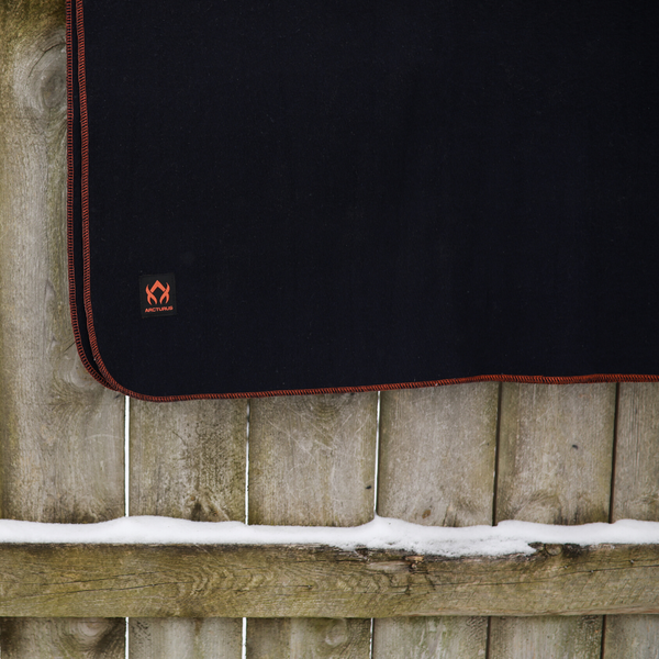 "Arcturus Military Wool Blanket - Navy Blue (64"" x 88"")"