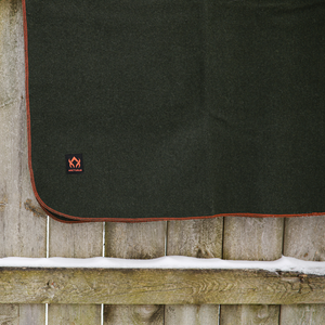 "Arcturus Military Wool Blanket - Olive Green (64"" x 88"")"