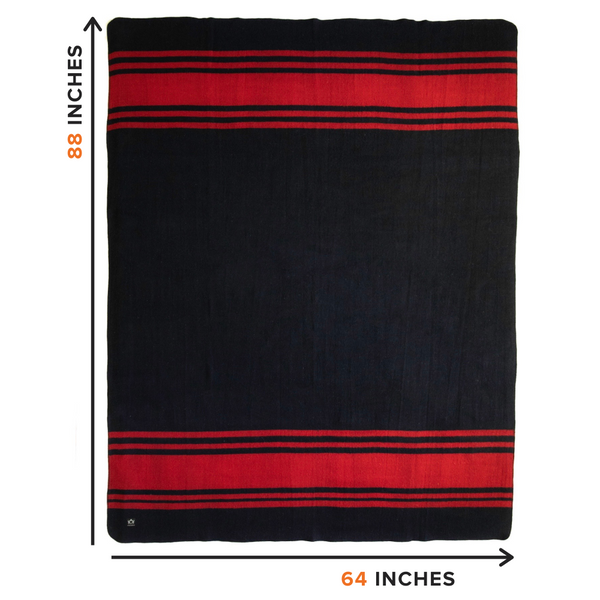 Arcturus Rainier Wool Blanket - Lava Canyon