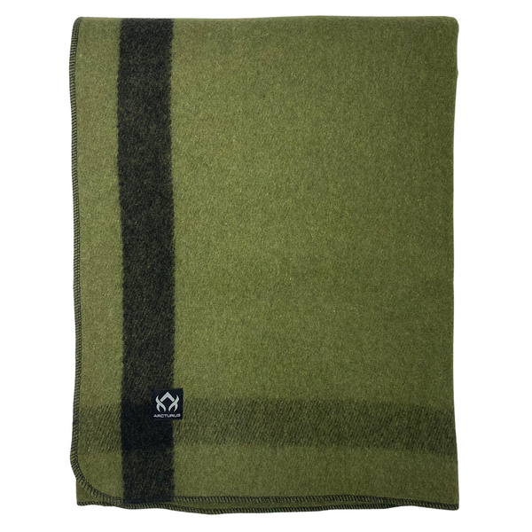 Arcturus Backwoods Wool Blanket - Blue Buffalo Plaid | 4.5 lbs