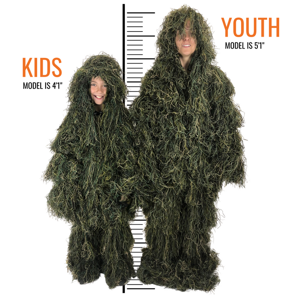 Arcturus Ghost Ghillie Suit - Kids Size