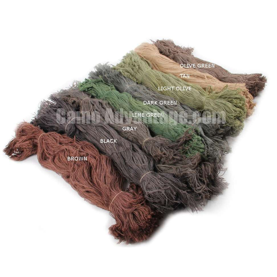 Large Jute Ghillie Kit with Custom Colors [Fire Retardant]