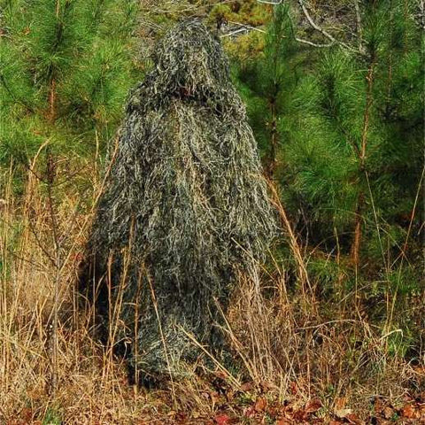 Ultra Light Ghillie Poncho Woodland