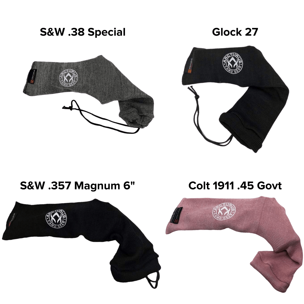 "Arcturus Handgun Socks - (3.5"" x 16"") Easily Fits Your Pistol or Revolver"