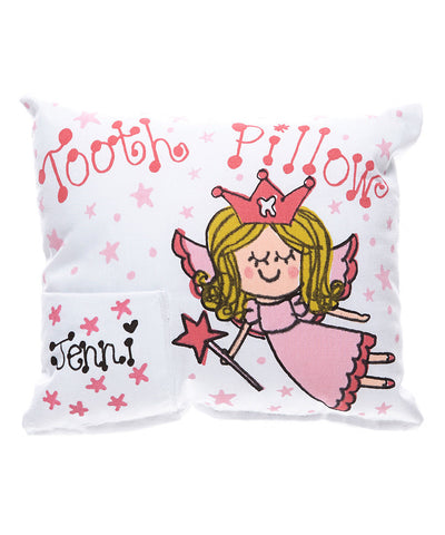 Girly Fairy Tooth Pillow in Pink with Personalization