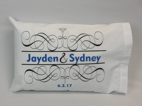 Wedding Couple Standard Pillowcase with Personalization