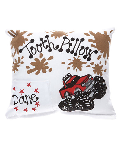 Monster Truck Tooth Pillow with Personalization