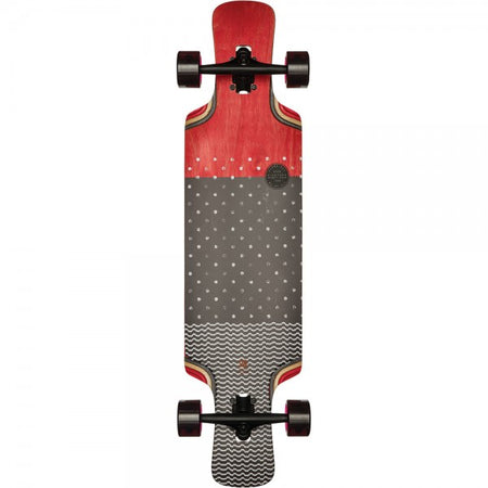 Trench Sports - Globe - Geminon Kick Red/Dotwave Longboard Complete