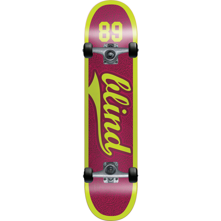 Trench Sports - Blind -  Athletic Skin Plum 7.625 First Push Soft Wheel Complete Skateboard