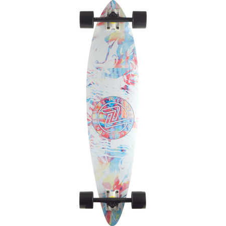 Trench Sports - Z-Flex - White Acid Swirl Pintail Skateboard