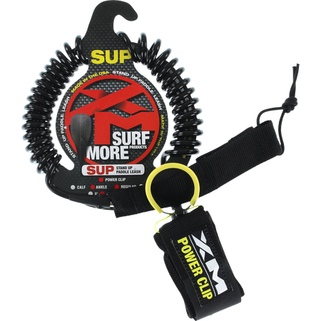Trench Sports - XM - SUP Power-Clip Regular Black Ankle Leash