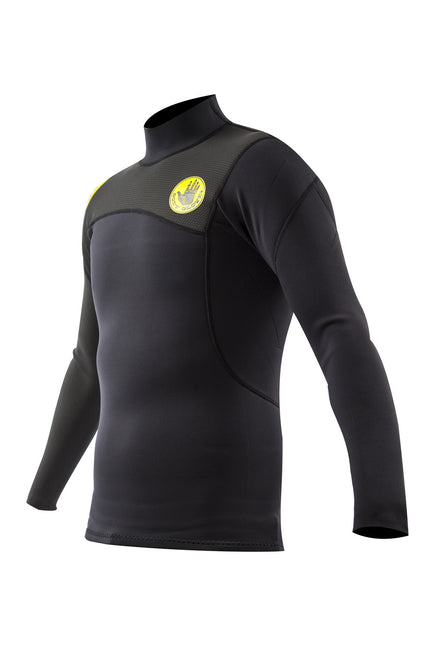 TRENCH SPORTS - Body Glove - PR1ME 1mm L/A Surf Shirt Black Rashguard
